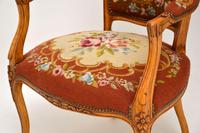 Pair of Antique French Tapestry Salon Armchairs (7 of 10)