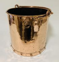 Antique Riveted Copper Bucket (4 of 14)