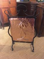 Arts And Crafts Copper Firescreen
