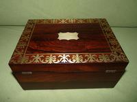 QUALITY Inlaid Regency Rosewood Jewellery Box + Tray. c1830 (8 of 15)