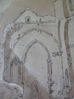 """18th Century Old Master Pen & Ink """"Ruins"""" (5 of 6)"""