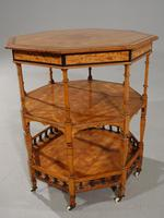 Exceptional Late 19th Century Octagonal Satinwood Table (3 of 7)