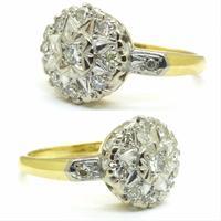 Vintage 18ct Platinum diamond cluster ring c.1960s (2 of 11)