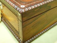 QUALITY Inlaid Rosewood & Amboyna Jewellery – Work Box. c1840 (3 of 16)