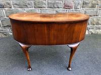 Antique Burr Walnut Kidney Shaped Dressing Table (10 of 12)