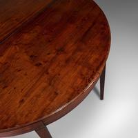 Antique Folding Tea Table, English, Mahogany, Side, Demi Lune, Georgian c.1800 (9 of 12)