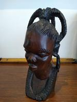 Ebonised African Tribal Tree Carving (5 of 8)