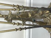 Victorian Brass Hunting Dog Fire Companion Set (9 of 40)