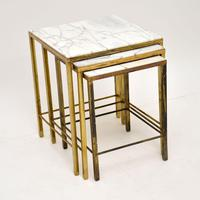1950's Brass & Marble Nest of Tables (6 of 9)