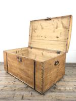 Large Antique Pine Dome Top Trunk (3 of 9)