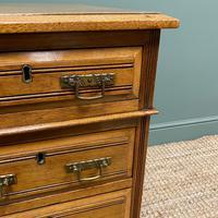 Victorian Walnut Antique Pedestal Desk (4 of 8)