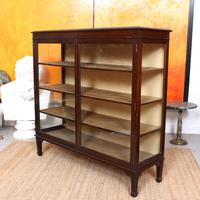 Glazed Bookcase Display Cabinet Edwardian Mahogany (3 of 9)