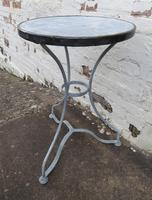 French Iron & Marble Bistro Table Mid 19th Century (8 of 12)