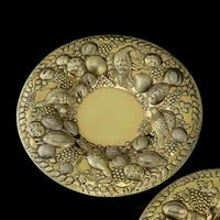 Magnificent Georgian Pair of Solid Silver Gilt Charger / Platter Dishes - George Burrows 1824 (12 of 27)