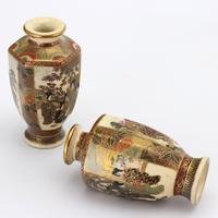 Pair of Small Meiji Period Japanese Satsuma Vases Signed Hododa c1890 (6 of 10)