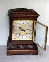 Solid Carved Oak Bracket Clock (6 of 11)