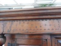 Country Oak Court Cupboard 1734 Carved Initials RTK (8 of 14)