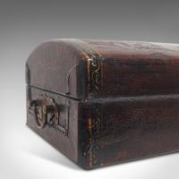 Antique Jewellery Box, Japanese, Leather, Desk Caddy, Meiji Period c.1900 (11 of 12)