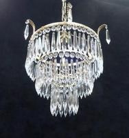 Art Deco Italian Three Tier Crystal Glass Chandelier (7 of 7)