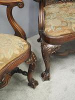 Pair of Queen Anne Style Walnut Armchairs (10 of 17)