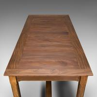 Large Antique Refectory Table, English, Teak, Mahogany, Dining, Industrial, 1900 (10 of 12)