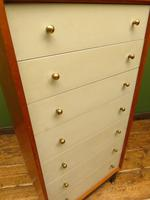 Mid Century Retro G-plan E Gomme China White Chest Of Drawers original condition (6 of 18)