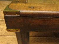 Vintage Colonial Style Low Coffee Table with Brass Details, Nautical Table (7 of 12)