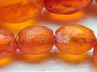 Antique Graduated Faceted Amber Beads Necklace 26 gr for Spare or re Stringing (9 of 11)