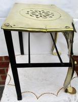 Antique English Victorian Brass & Steel Footman (5 of 6)