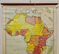 """Large University Chart """"Africa Physical """"  by Bacon (2 of 4)"""