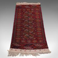 Antique Near Pair, Bokhara Rugs, Turkoman, Tekke, Carpet, Wall Covering, C.1910 (8 of 12)