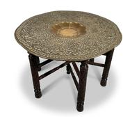 North African Folding Brass Tray Table (5 of 9)