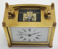 Interesting Antique French 8-day Carriage Clock Rectangle Design (2 of 9)