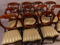 Set of 12 Victorian Mahogany Balloon Back Dining Chairs fully restored (10 of 11)