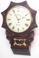Rare Antique Drop Dial Wall Clock 8 Day Single Fusee Movement Signed J H Harvey Penzance (2 of 12)