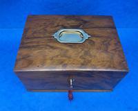 Walnut Jewellery Box c.1900 (2 of 14)