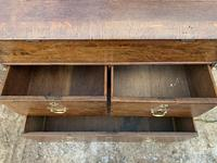 18th Century Georgian Oak Crossbanded Bureau (15 of 22)