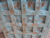 Handmade Indian Mango & Teak Large Painted Sky Blue 2 Door Storage Cupboard (8 of 13)