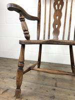 Antique Beech & Elm Windsor Armchair (7 of 12)