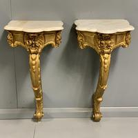 Pair of 19th Century French Gilt Console Pier Tables (9 of 13)