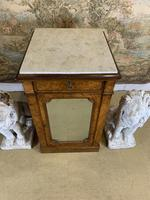 Single Burr Walnut Cabinet with Marble Top (2 of 7)