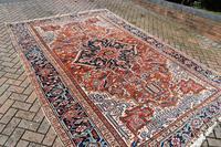 Antique Heriz roomsize carpet 347x246cm (9 of 9)