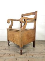 19th Century Oak Armchair Commode (2 of 10)
