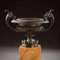 Pair Of Early 19th C Grand Tour Bronze And Sienna Marble Tazzas (7 of 7)