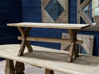 Rustic French Bleached Oak Coffee Table (5 of 20)