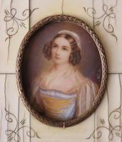 Hand Painted Miniature Portrait Helen Sedlmayer 1813-1898 (3 of 4)