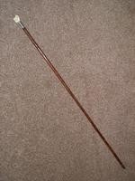 Antique kendall hallmarked 1925 silver walking/dress cane w/carved fist handle (4 of 9)