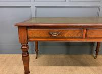 Victorian Walnut 2 Drawer Writing Table (12 of 14)