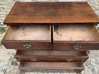 Antique Oak Chest of Drawers with Crossbanded Edge (15 of 17)