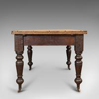 Antique Kitchen Table, English, Extending, Scrub Top, Dining, Victorian c.1870 (6 of 12)